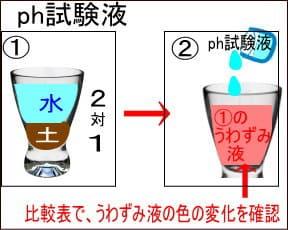 ph試験液での検査方法