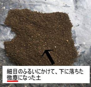 微塵になった土